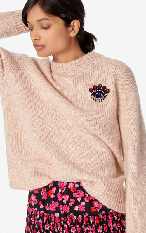 FLAMINGO PINK Eye sweater for women KENZO
