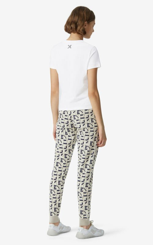 WHITE KENZO Sport 'Big X' T-shirt for women