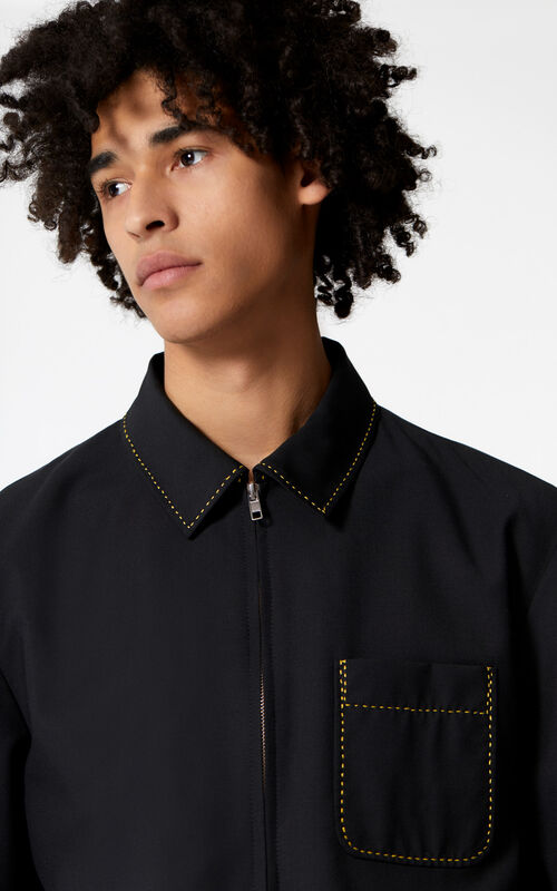 BLACK Zip-up jacket for men KENZO