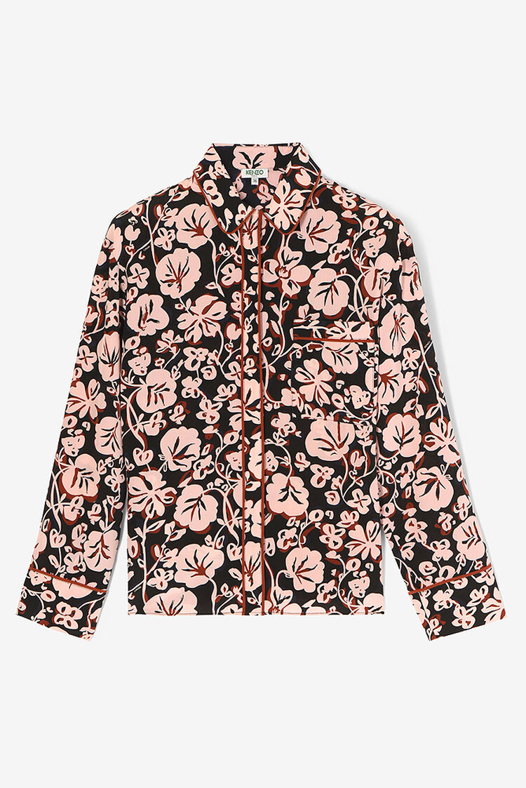 FADED PINK 'Floral Leaf' Shirt for women KENZO