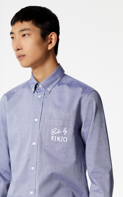 NAVY BLUE 'Color by KENZO' shirt for men