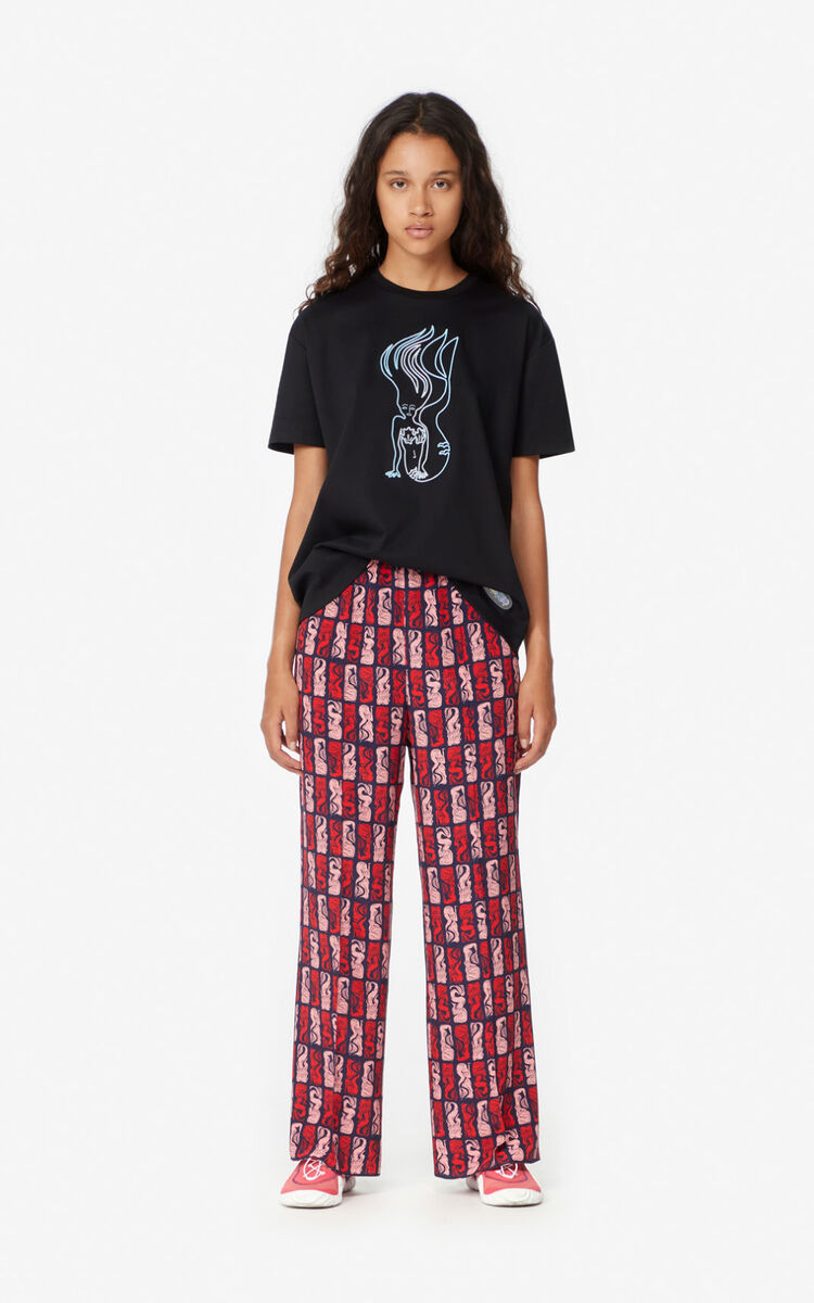 BLACK 'KENZO Wave & Mermaids' t-shirt for women