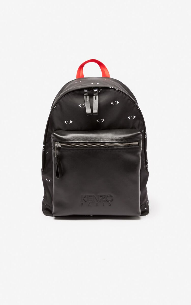 BLACK Multi Eyes backpack for unisex KENZO
