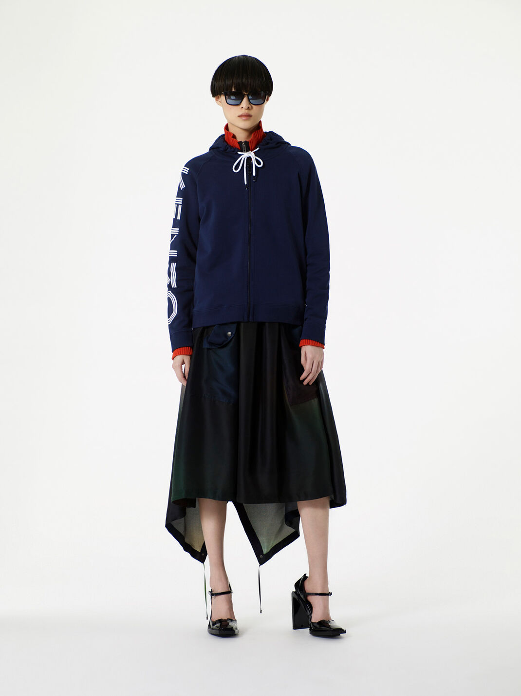 DARK KHAKI Northern Lights' A line skirt for women KENZO