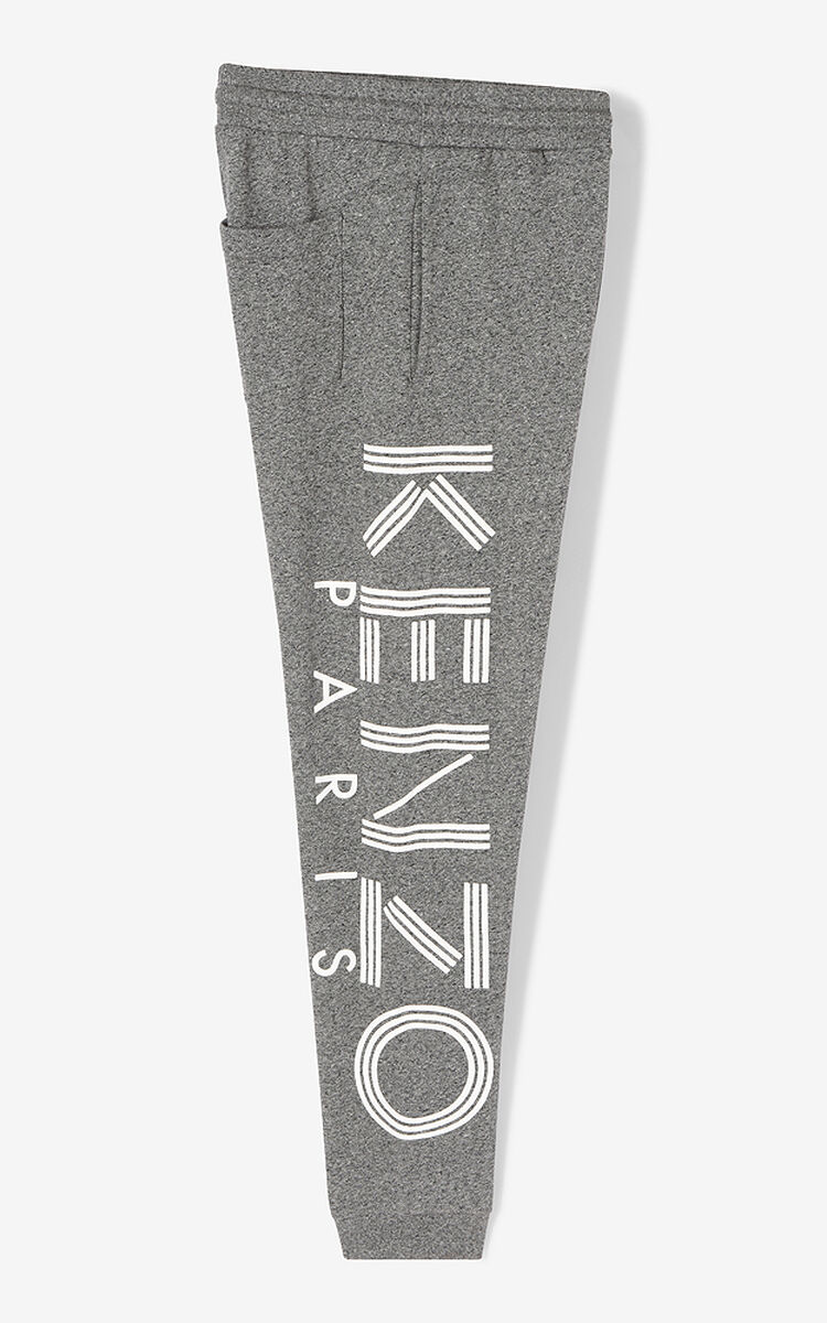 ANTHRACITE Joggers with KENZO logo for women