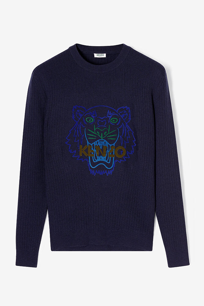 kenzo navy tiger sweater