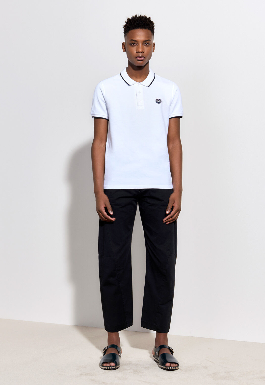 WHITE Tiger Polo Shirt for men KENZO