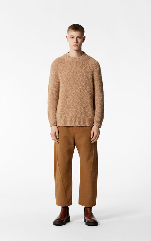 DARK CAMEL Wool and mohair jumper for women KENZO