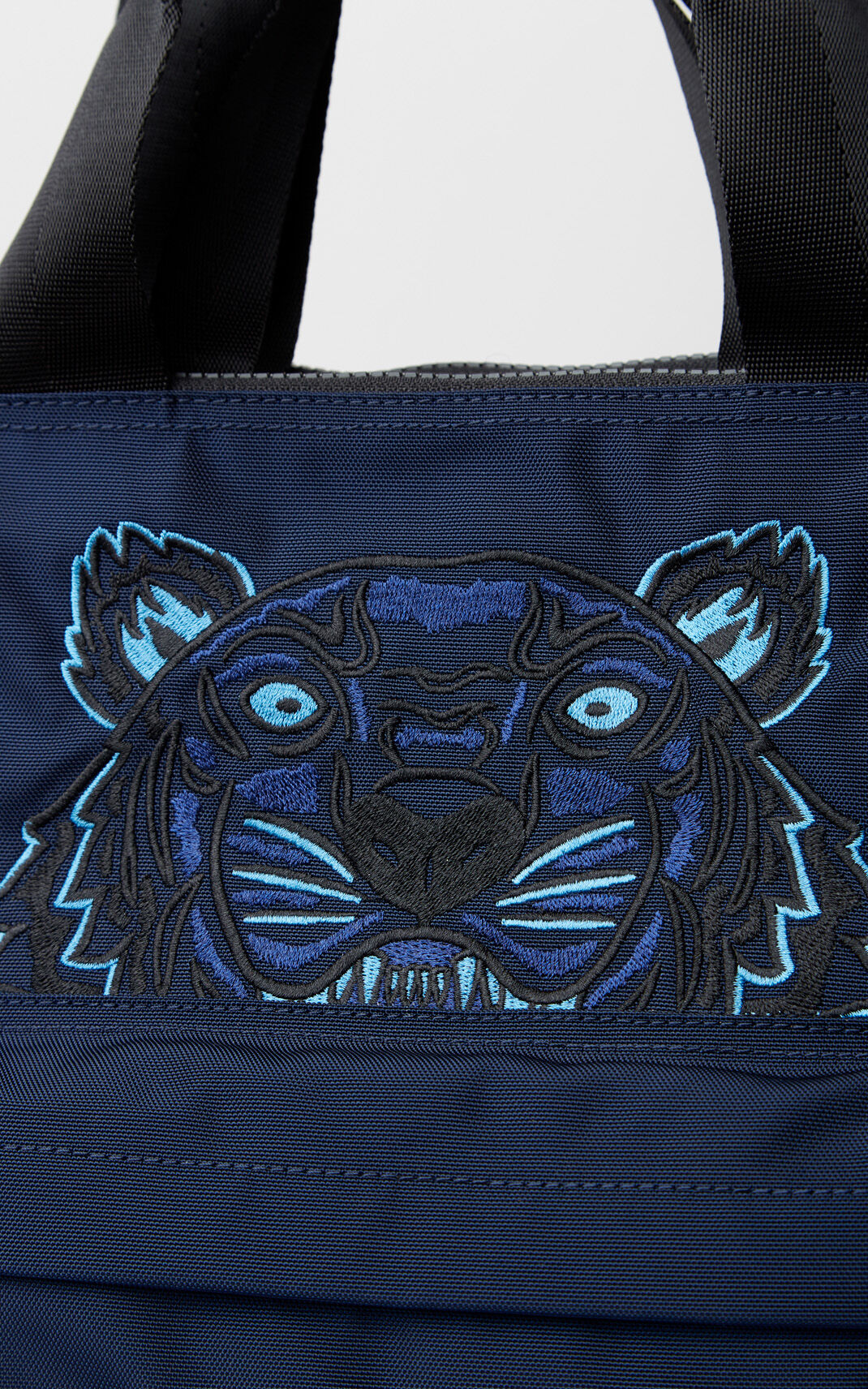 NAVY BLUE Tiger tote bag for unisex KENZO