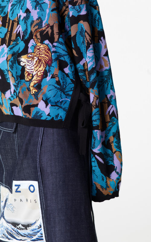 BLACK 'Bamboo Tiger' jumper for women KENZO