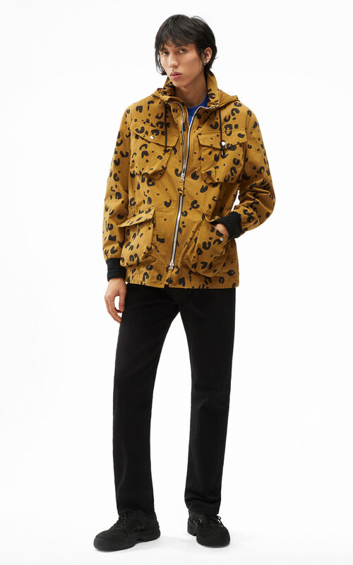 DARK BEIGE Printed parka for men KENZO