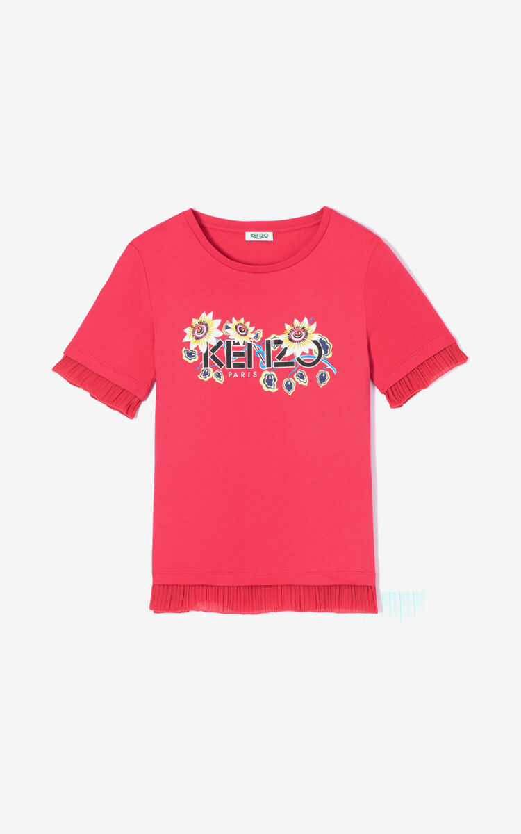 CORAL 'Passion Flower' KENZO Paris T-shirt for women