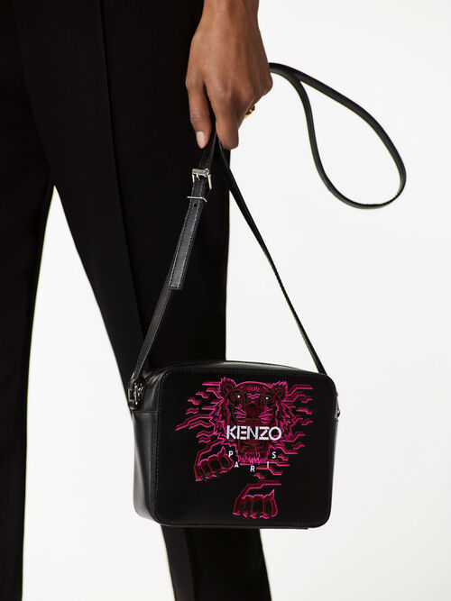 BLACK Geo Tiger' Camera Bag for women KENZO
