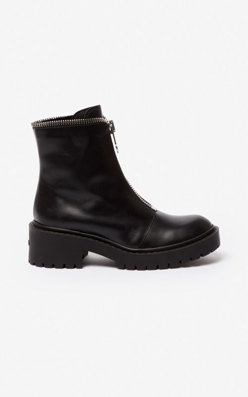 BLACK Pike zipped boots for unisex KENZO