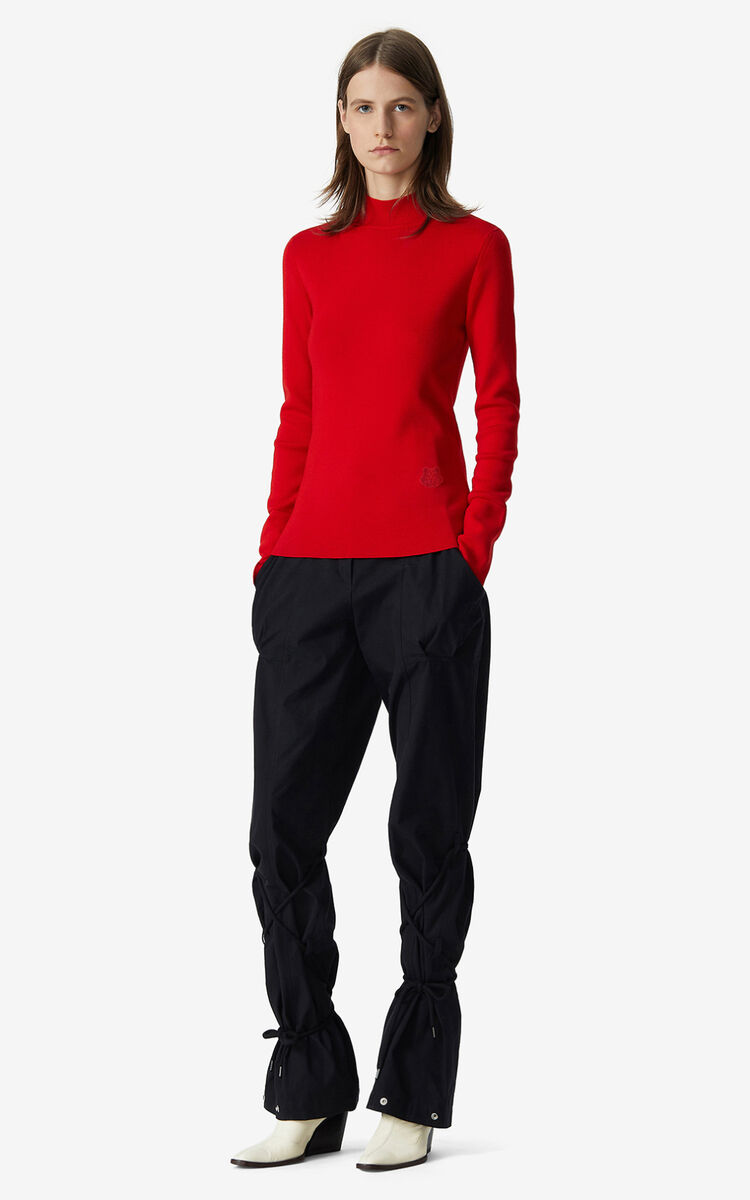 VERMILLION Tiger Crest merino wool jumper  for women KENZO