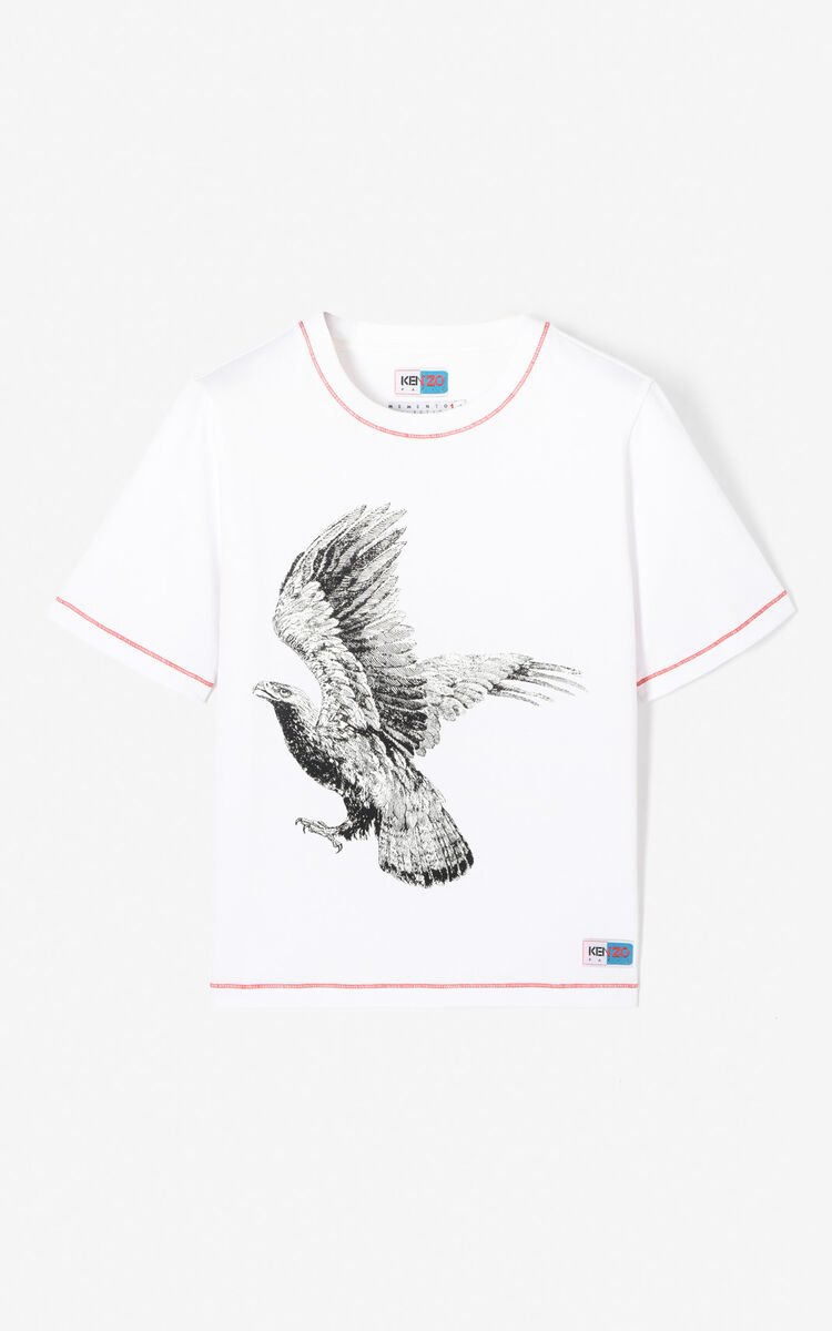 WHITE 'Eagle' T-shirt for women KENZO