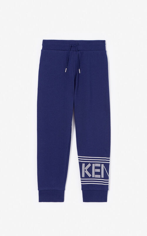 NAVY BLUE Joggers with Kenzo logo for men