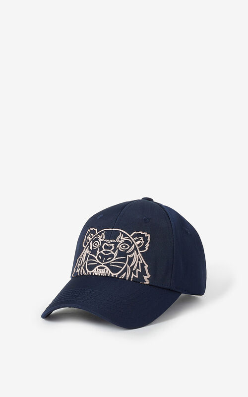 MIDNIGHT BLUE Canvas Kampus Tiger cap for unisex KENZO