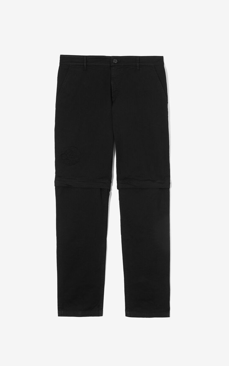 BLACK 2-in-1 trousers for men KENZO
