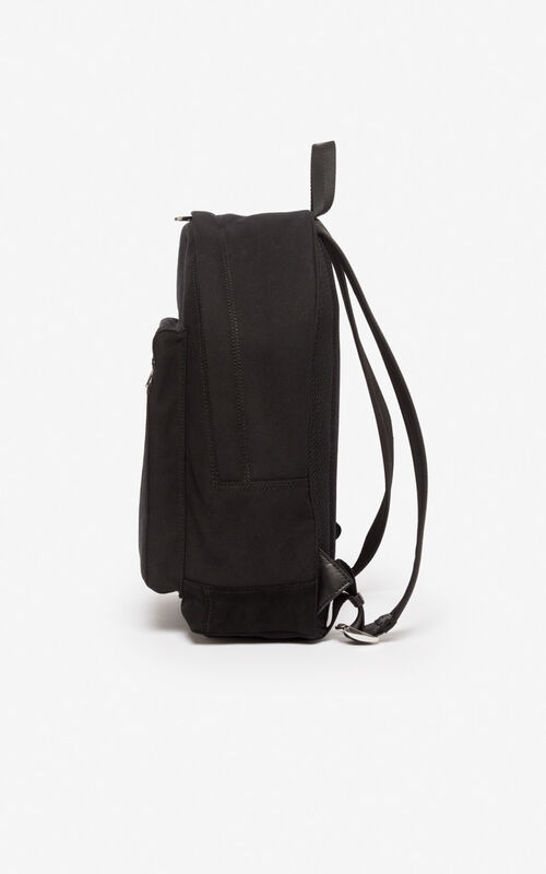 BLACK Large 'Tiger Mountain' 'Capsule Expedition' backpack for unisex KENZO