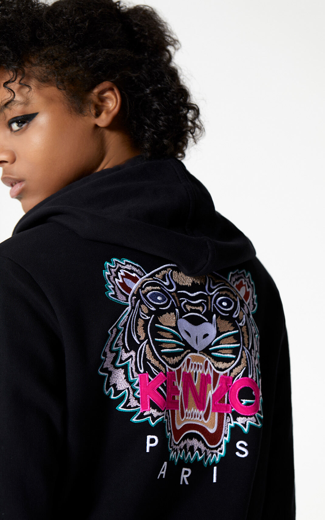 BLACK Tiger jacket for women KENZO