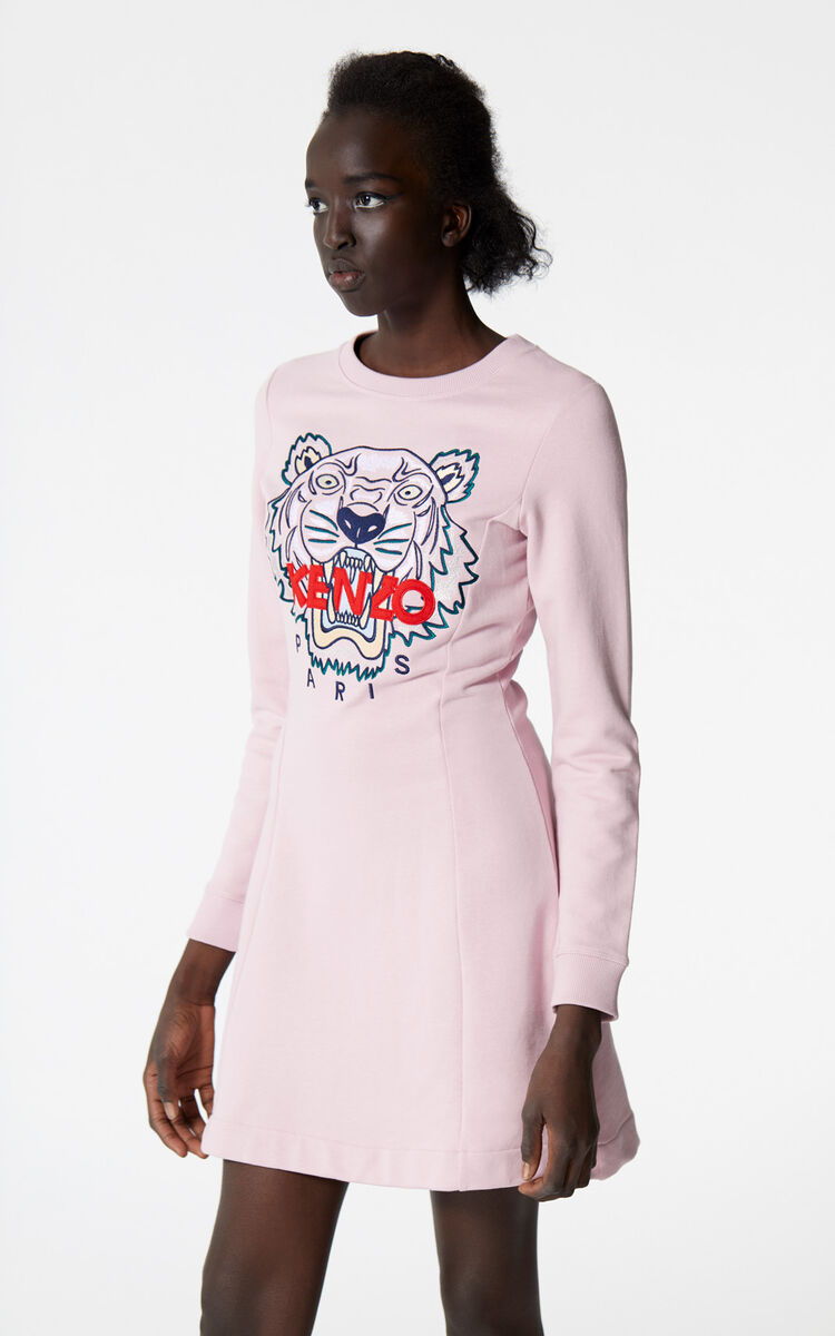 PASTEL PINK Tiger sweatshirt dress for men KENZO