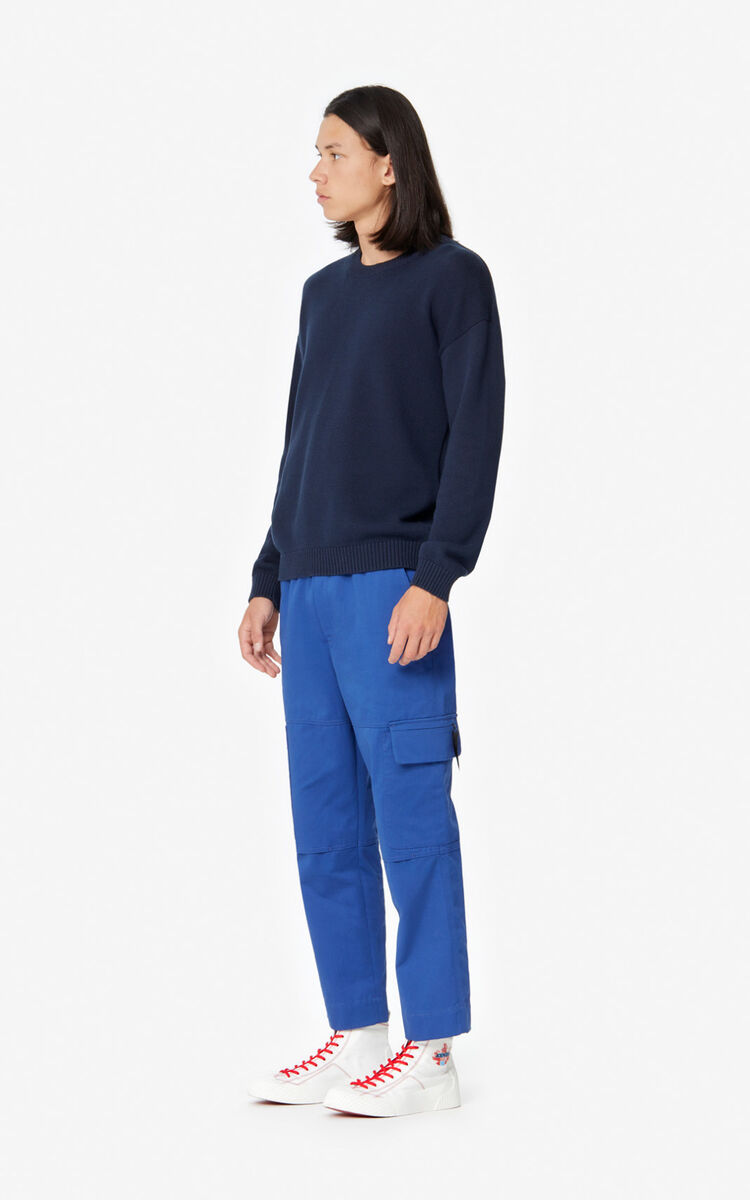 MIDNIGHT BLUE KENZO jumper for men