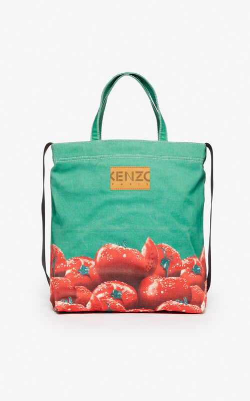 GRASS GREEN 'Tomato' tote bag for unisex KENZO