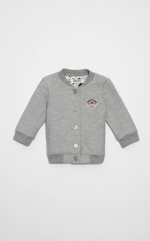 PALE GREY Tiger Bomber  for women KENZO