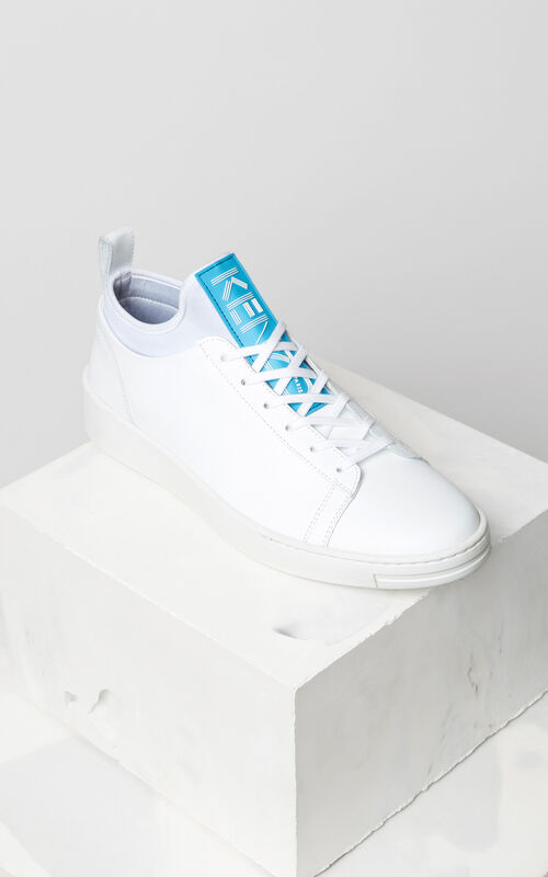 WHITE K-city leather sneakers for women KENZO