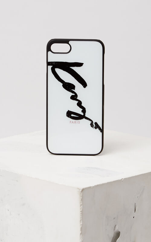WHITE KENZO Signature iPhone 7+ case for unisex