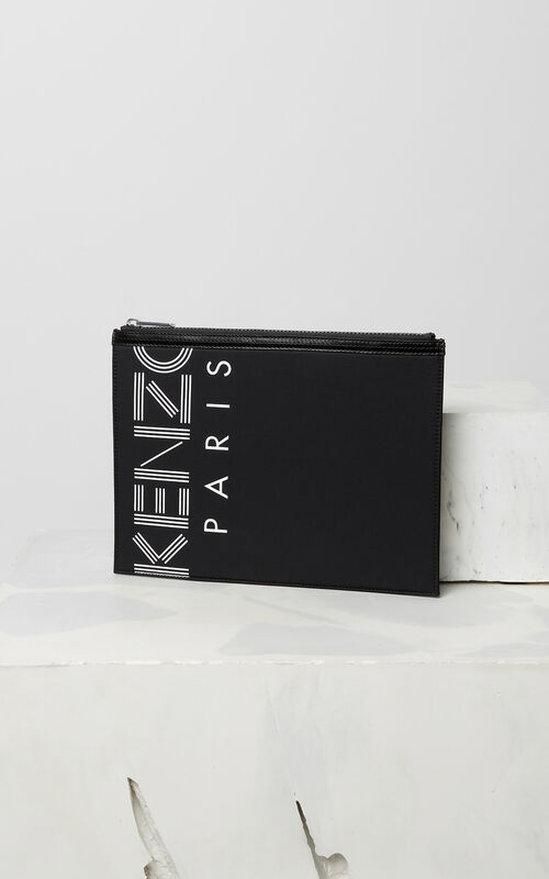 BLACK A4 KENZO Logo clutch for global.none