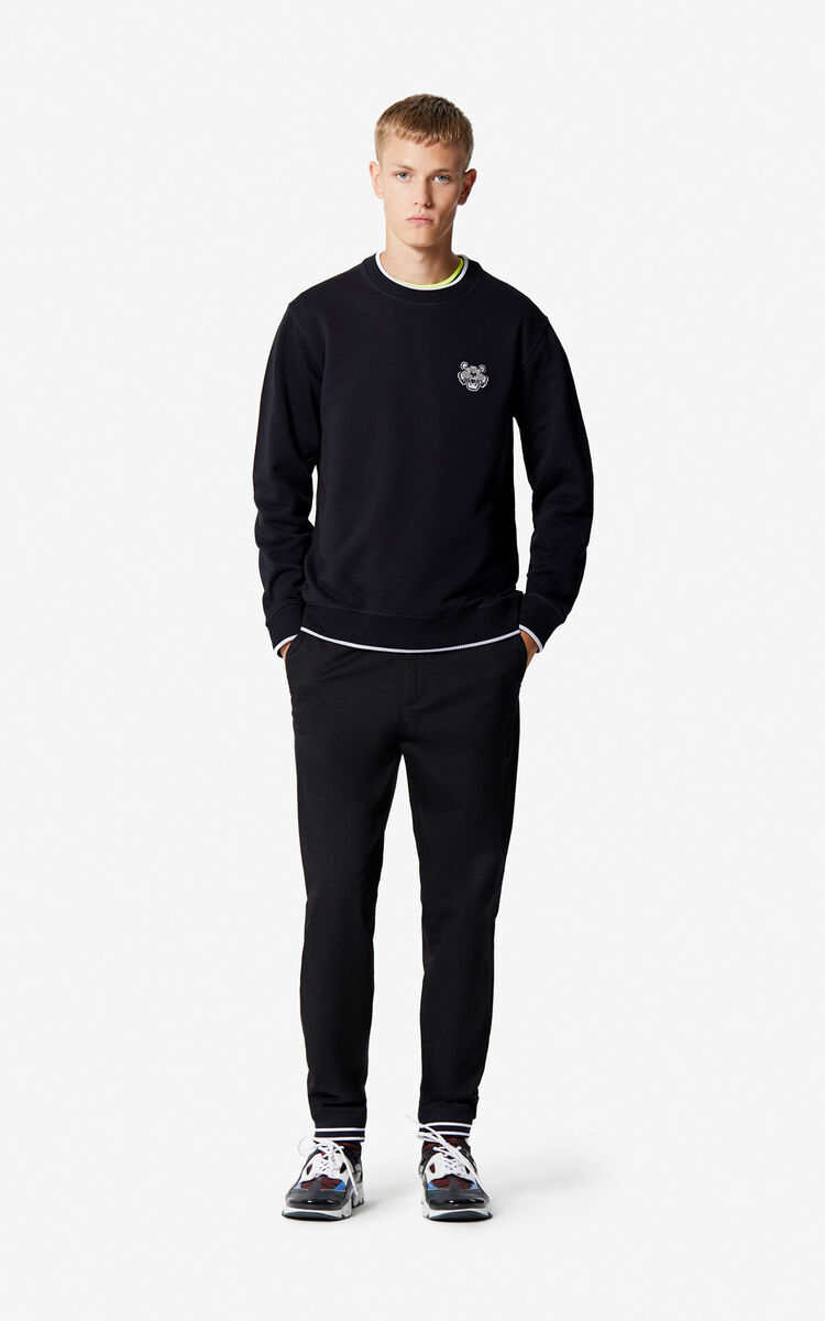 BLACK Tiger Crest Sweatshirt for men KENZO