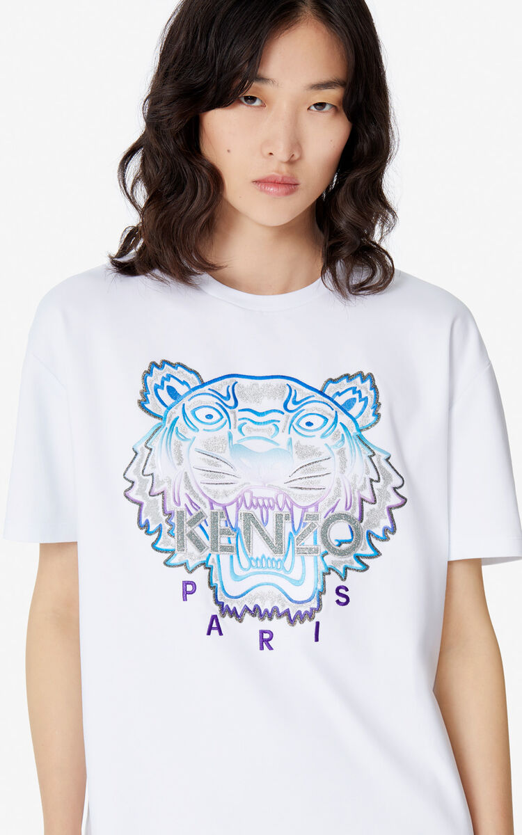 WHITE 'Holiday Capsule' Tiger T-shirt for women KENZO