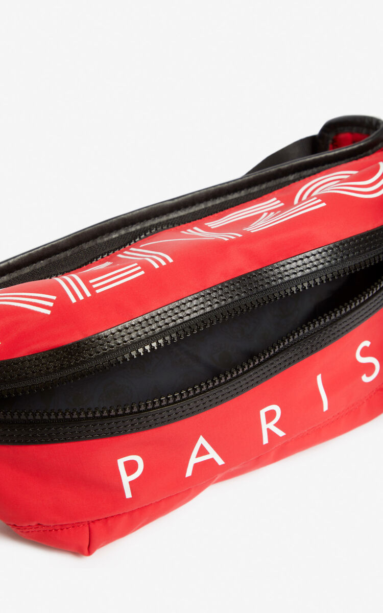 MEDIUM RED KENZO Logo bumbag for men