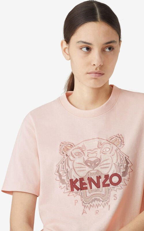 FADED PINK Tiger loose-fitting T-shirt for women KENZO