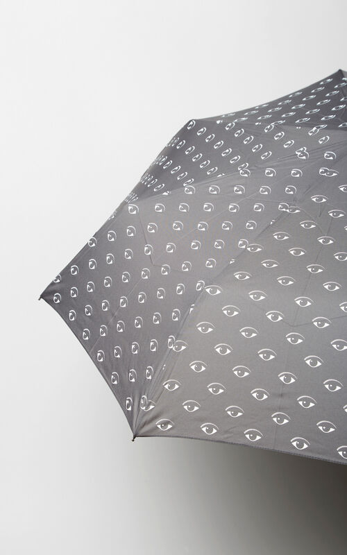 MIDDLE GREY All over Eyes Umbrella for men KENZO