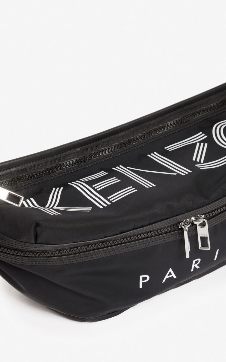 BLACK Large KENZO Logo Bumbag for unisex