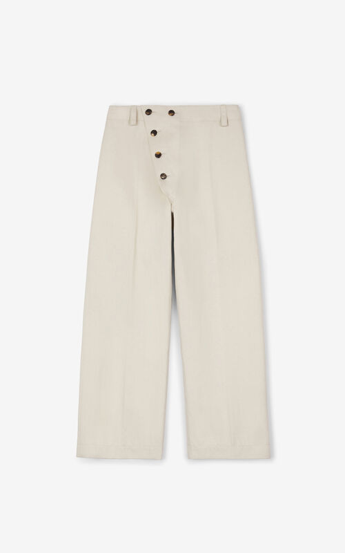 OFF WHITE Loose-fitting trousers for unisex KENZO