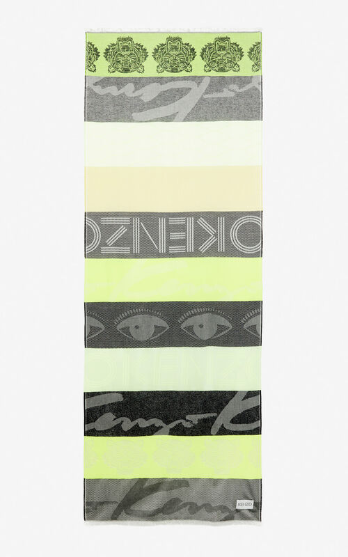 LEMON Multi icon scarf for unisex KENZO
