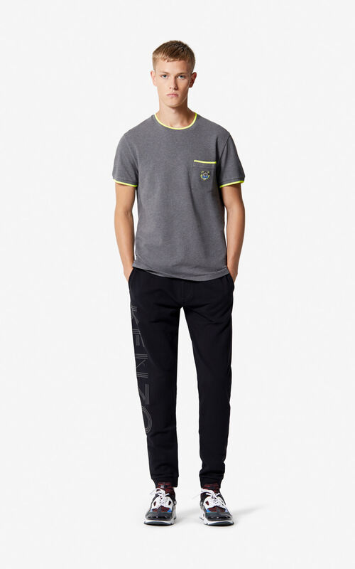STONE GREY Tiger Pocket T-shirt  for men KENZO