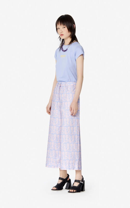 LAVENDER Denim 'Mermaids' culottes for women KENZO