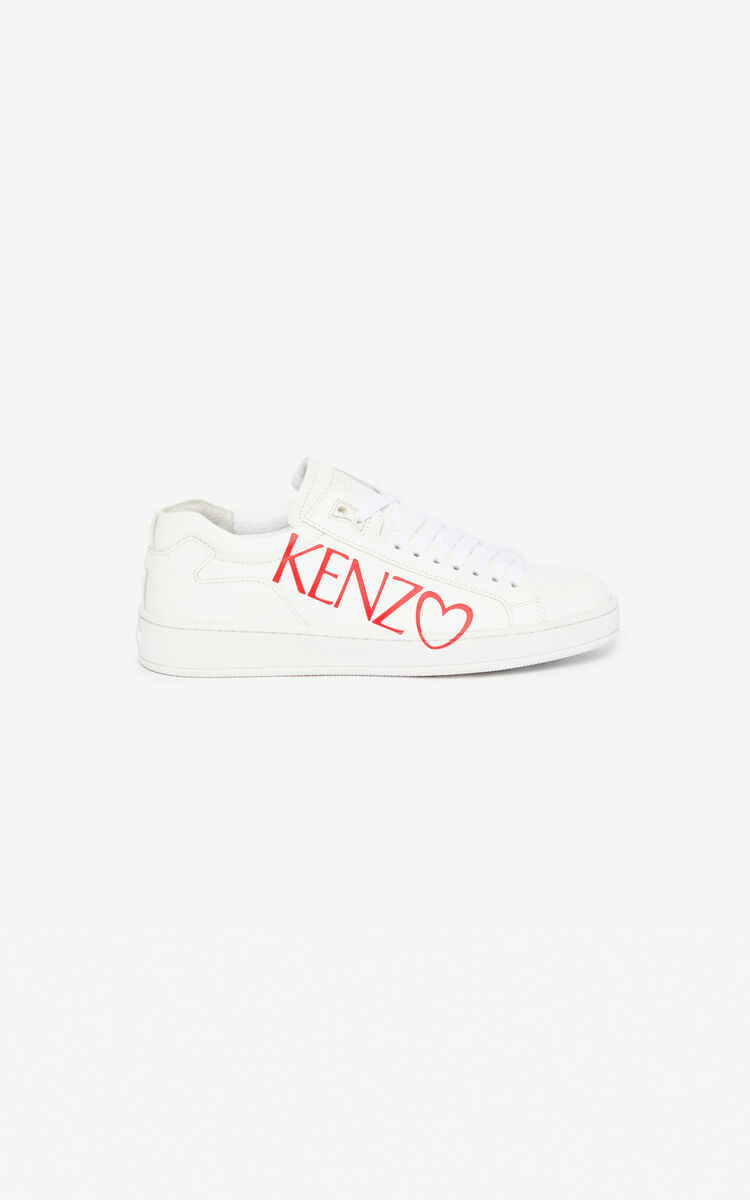 WHITE 'I ❤ KENZO Capsule' Tennix sneakers for women