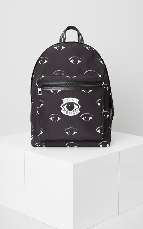 BLACK Multi Eye Backpack for global.none KENZO