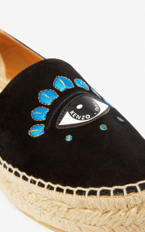BLACK Eye espadrilles for unisex KENZO