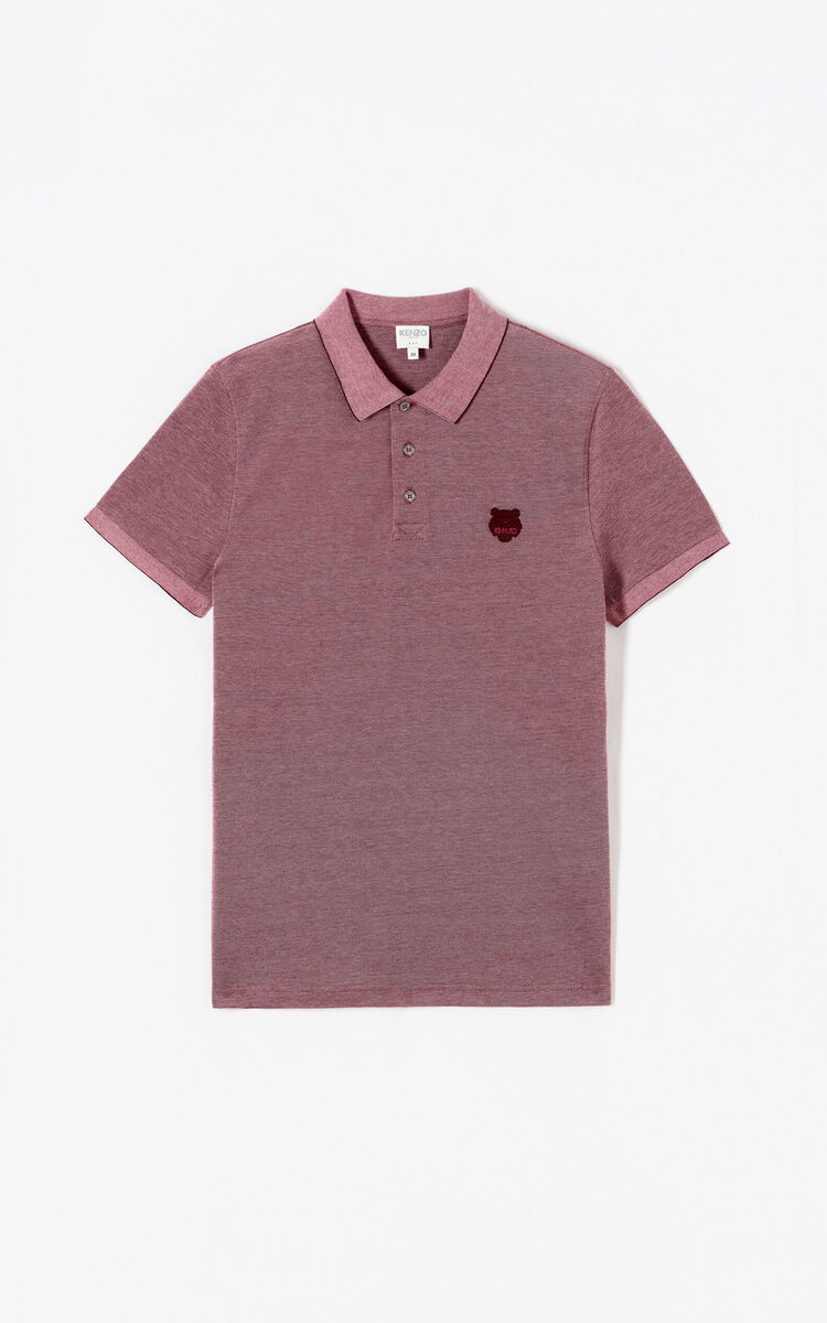 BORDEAUX Tiger slim fit polo shirt for men KENZO
