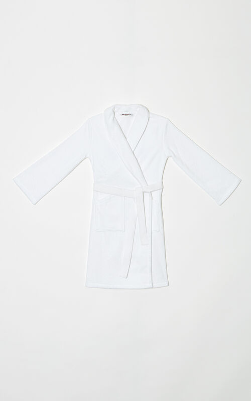 WHITE Tiger Dressing Gown for unisex KENZO