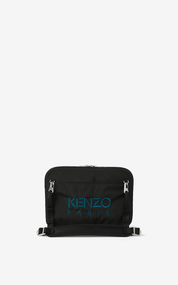 BLACK Kampus Tiger crossbody briefcase for women KENZO