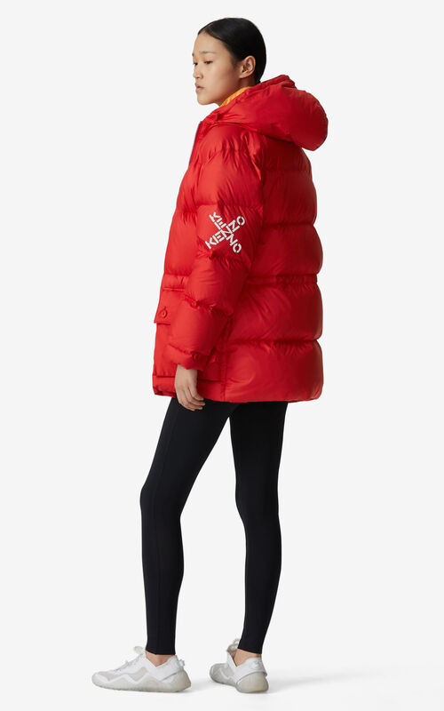 MEDIUM RED KENZO Sport 'Little X' puffer jacket for men