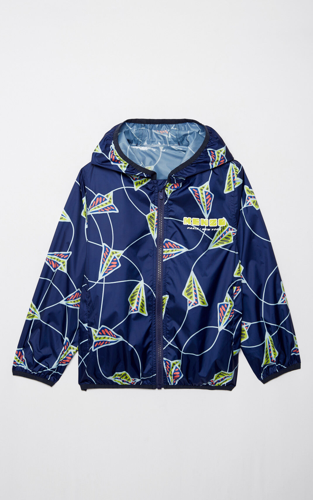 NAVY BLUE 'Paper Planes' waterproof windbreaker for men KENZO